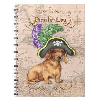 ダックスフントの海賊 ノートブック