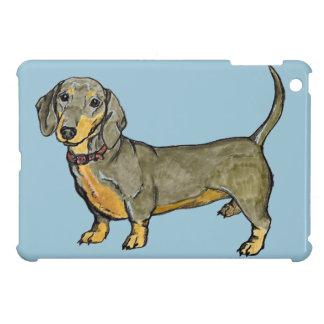 ダックスフントのdoxieのウインナーのホットドッグ iPad miniケース