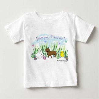 ダックスフントイースター ベビーTシャツ