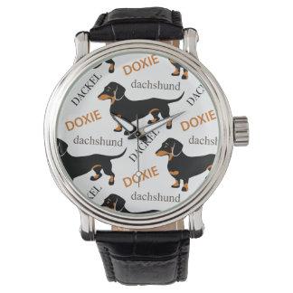 ダックスフントパターン 腕時計