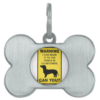 ダックスフント犬のユーモアのあるなDoxonのおもしろいなことわざ ペットネームタグ