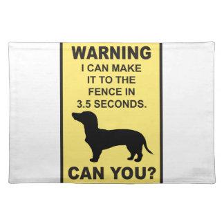 ダックスフント犬のユーモアのあるなDoxonのおもしろいなことわざ ランチョンマット