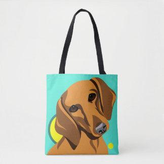 ダックスフント犬の恋人のバッグ トートバッグ