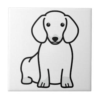 ダックスフント犬の漫画 タイル