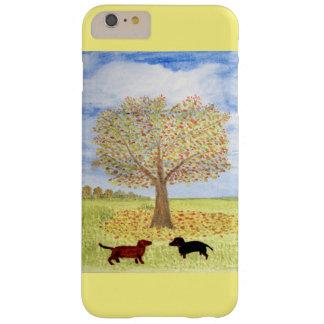 ダックスフント犬の秋の歩行 BARELY THERE iPhone 6 PLUS ケース
