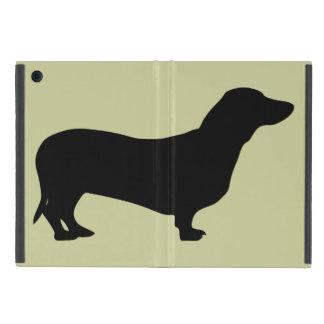 ダックスフント犬の黒のシルエットのかわいいdoxie iPad mini ケース