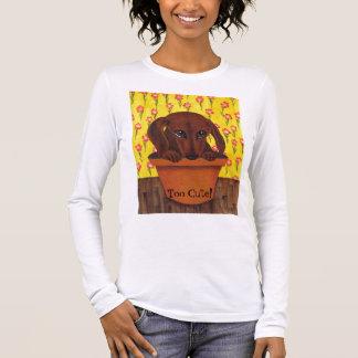 ダックスフント犬は余りにかわいいです! Tシャツ