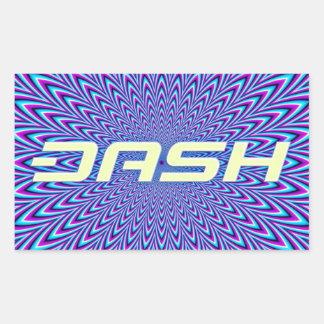 ダッシュのステッカーA160 長方形シール