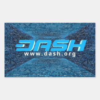 ダッシュのステッカーA263 長方形シール