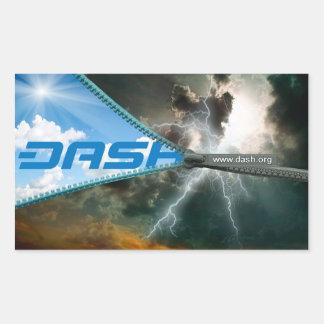 ダッシュのステッカーS8 長方形シール