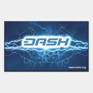 ダッシュの電気病気 長方形シールステッカー