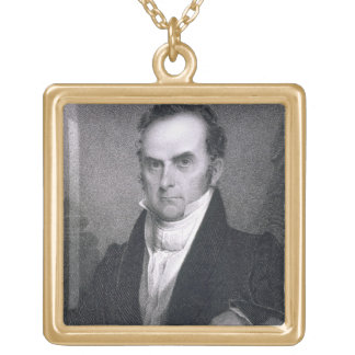 ダニエル・ウェブスター(1782-1852年) (版木、銅版、版画) ゴールドプレートネックレス
