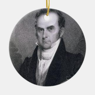 ダニエル・ウェブスター(1782-1852年) (版木、銅版、版画) セラミックオーナメント