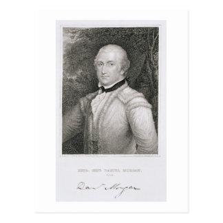 ダニエル・モーガン陸軍准将(1736-1802年の) engrav ポストカード