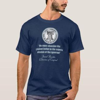 ダニエルBoorstinの引用文-知らないのの知恵 Tシャツ