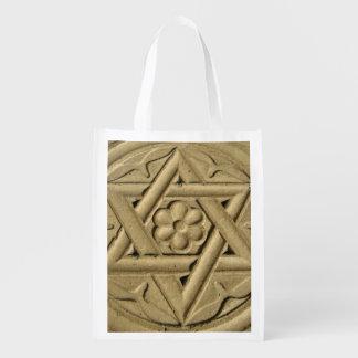 ダビデの星は石-ユダヤ教で刻みました エコバッグ