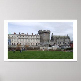 ダブリンの城アイルランド ポスター