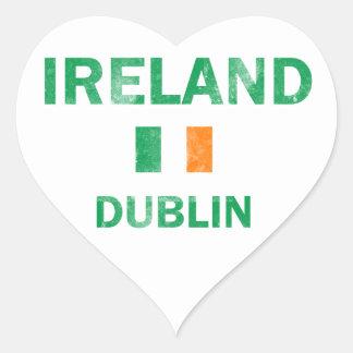 ダブリンアイルランドのデザイン ハートシール