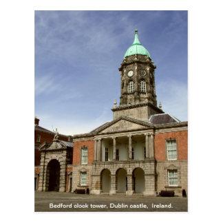ダブリン城アイルランド-ベドフォードの時計台 ポストカード