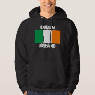 ダブリン、アイルランドの旗が付いているアイルランド パーカ