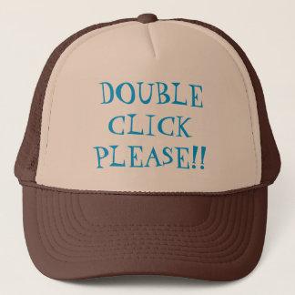 ダブルクリックのトラック運転手の帽子 キャップ