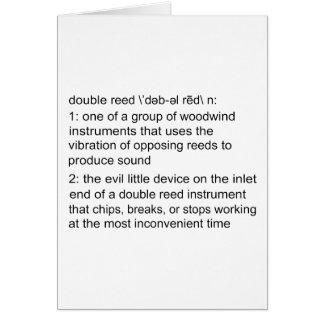 ダブルリード定義 カード