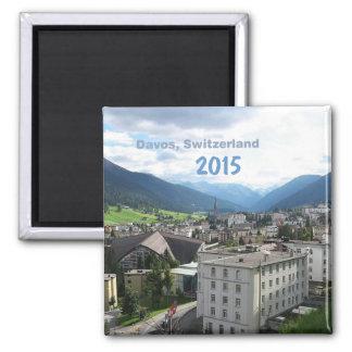 ダボススイス連邦共和国の写真の冷蔵庫用マグネットの変更年 マグネット