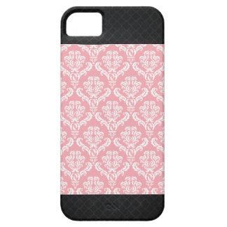 ダマスク織および黒板のiPhoneの場合 iPhone SE/5/5s ケース