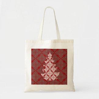 ダマスク織のクリスマスツリー トートバッグ