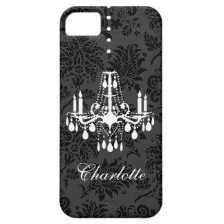 ダマスク織のシャンデリアのiPhone 5の穹窖ID iPhone SE/5/5s ケース