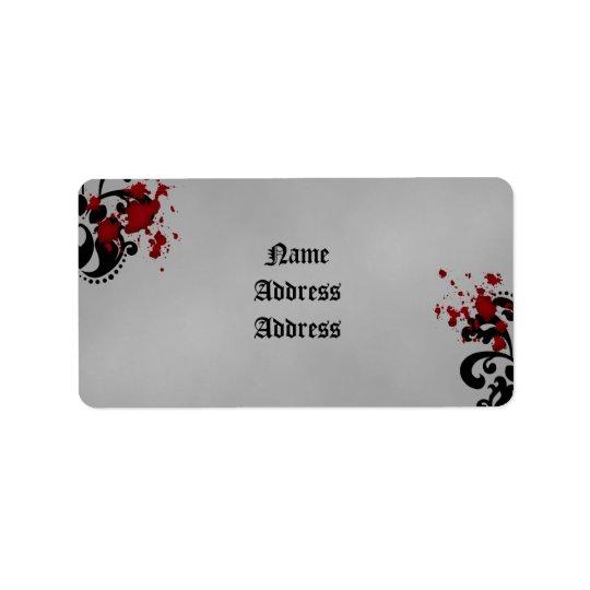ダマスク織のハロウィンの結婚式 宛名ラベル