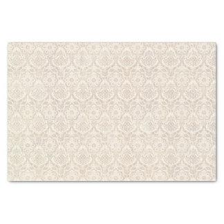 ダマスク織のバニラパターン 薄葉紙