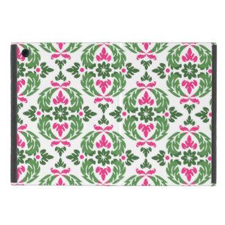 ダマスク織のピンクおよび緑の小型iPadカバー iPad Mini ケース