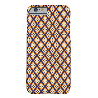 ダマスク織のペイズリーのアラベスクのダイヤモンドパターン円形浮彫り BARELY THERE iPhone 6 ケース