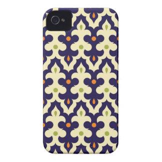 ダマスク織のペイズリーのアラベスクの壁紙パターン Case-Mate iPhone 4 ケース