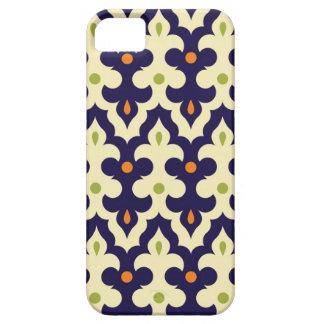 ダマスク織のペイズリーのアラベスクの壁紙パターン iPhone SE/5/5s ケース