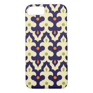 ダマスク織のペーズリーのアラベスクの壁紙パターン iPhone 8/7ケース