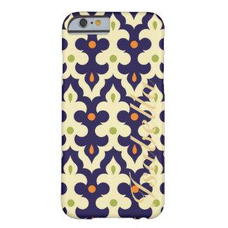 ダマスク織のペーズリーのアラベスクモロッコパターン名前 BARELY THERE iPhone 6 ケース