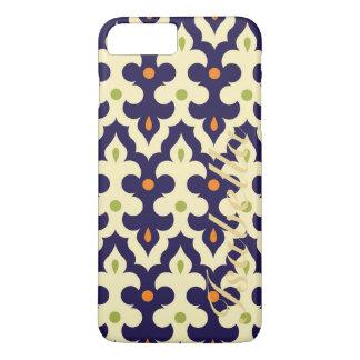 ダマスク織のペーズリーのアラベスクモロッコパターン名前 iPhone 8 PLUS/7 PLUSケース