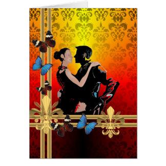 ダマスク織のロマンチックなタンゴのダンサー カード