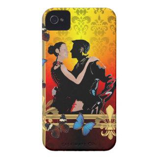 ダマスク織のロマンチックなタンゴのダンサー Case-Mate iPhone 4 ケース