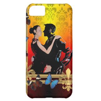 ダマスク織のロマンチックなタンゴのダンサー iPhone5Cケース
