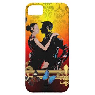 ダマスク織のロマンチックなタンゴのダンサー iPhone SE/5/5s ケース