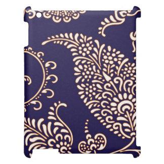 ダマスク織のヴィンテージのペイズリーのガーリーな花のhennaパターン iPadケース