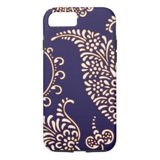 ダマスク織のヴィンテージのペーズリーのガーリーな花のhennaパターン iPhone 8/7ケース