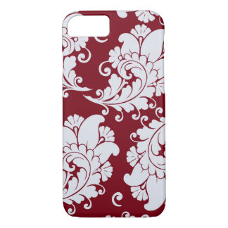 ダマスク織のヴィンテージのペーズリーの壁紙の花柄パターン iPhone 8/7ケース