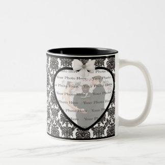 ダマスク織の優雅の結婚式のマグ ツートーンマグカップ