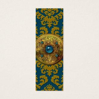 ダマスク織の切口のビロード、円形浮彫り スキニー名刺