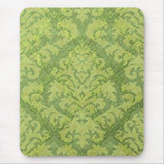 ダマスク織の切口のビロード、緑の二重ダマスク織 マウスパッド