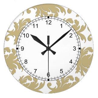 ダマスク織の柱時計 ラージ壁時計